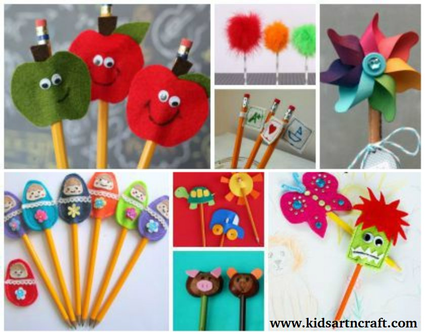 DIY Pencil Toppers for Kids – Back to School Crafts