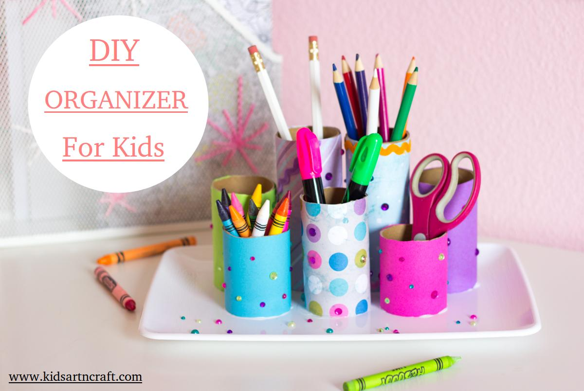 Diy Desk Organizer From Toilet Paper Rolls For Kids Kids