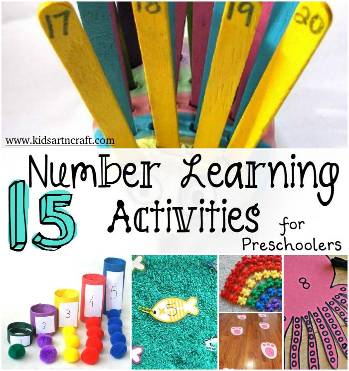 Number Learning Activities For Kids Kids Art Craft