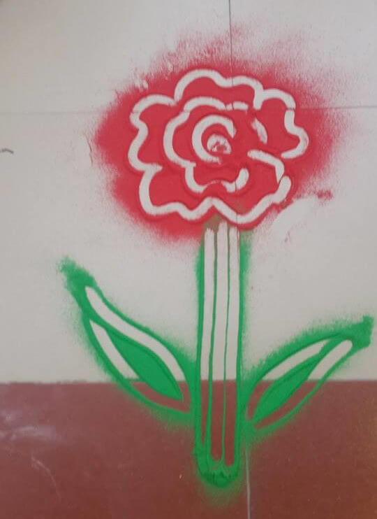 An Easy Rangoli Design Of Rose