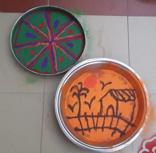 Rangoli Designs for Kids Nature Oriented Rangoli Design