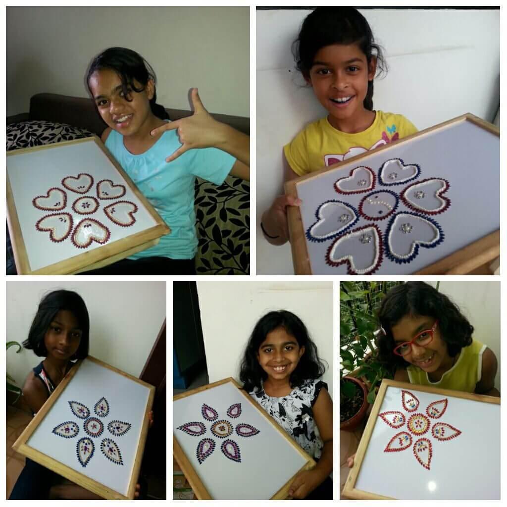 Rangoli Designs for Kids Basic Floral Rangoli Design For Kids