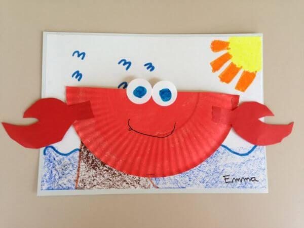 Crab Diagam Paper Plate Crab