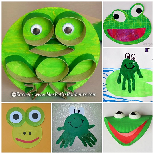 frog crafts for preschoolers - Easy to make frog art projects for kids