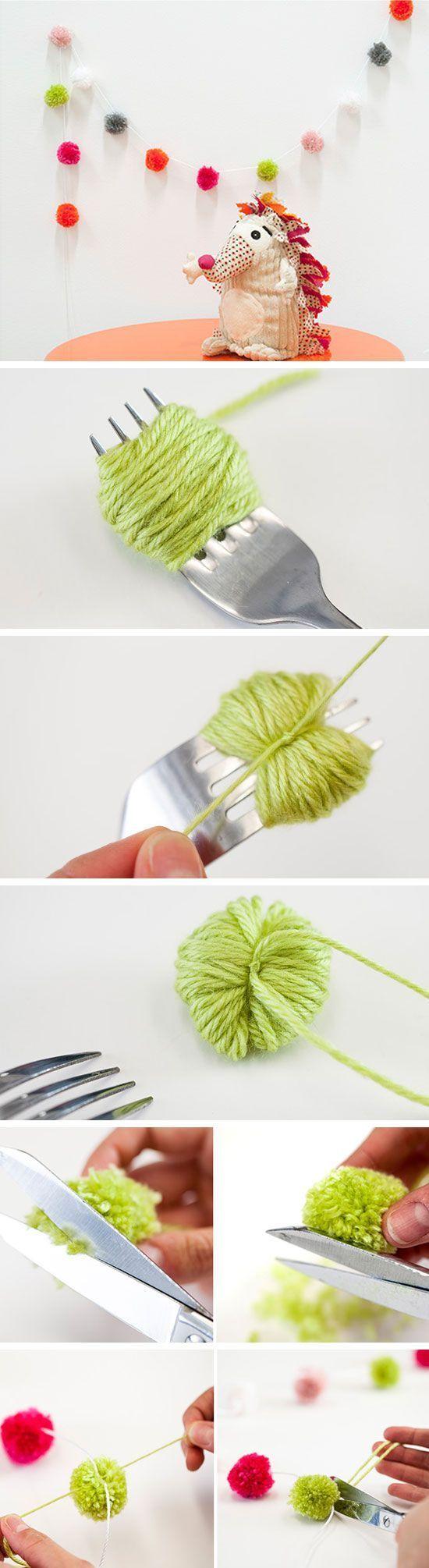 DIY Pom Pom Garland Craft idea