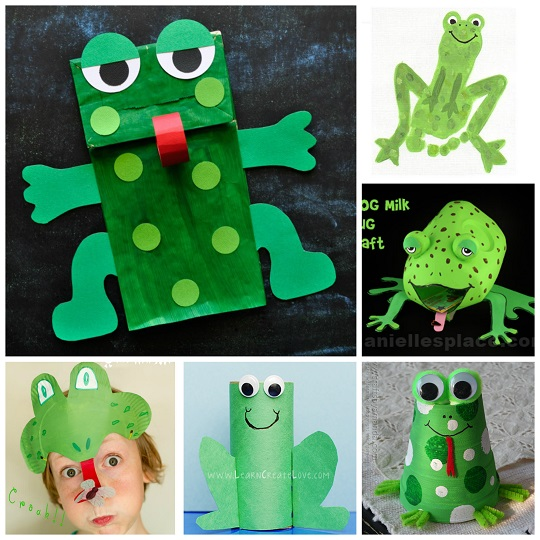 frog crafts for preschoolers - The useful frog art projects