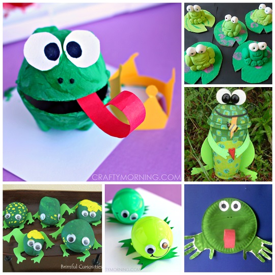 frog crafts for preschoolers -The frog art projects using different waste items