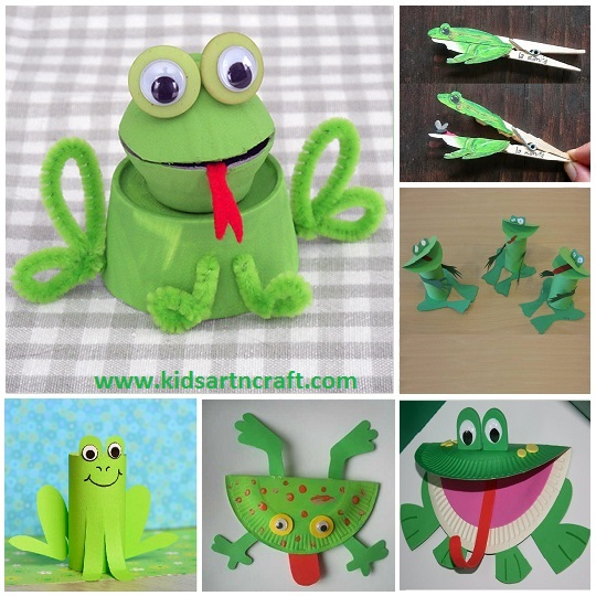 frog crafts for preschoolers - The frog art projects using paper plates, cups, toilet paper roll