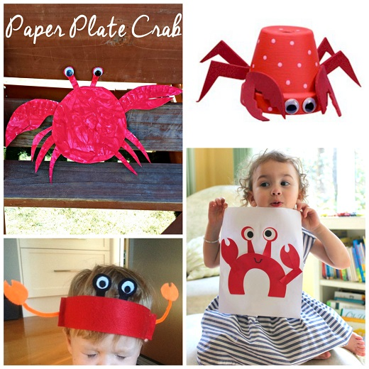 Flower Pot Crab Paper Crab Hat C is for Crab Paper Plate Crab Craft