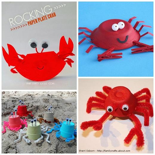 Styrofoam Cup Crabs Bowl Crab Craft Rocking Crab Plate Craft Egg Carton Crab