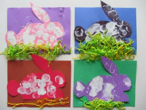 Colorful Easter Bunny Spring Recycled Crafts for Kids