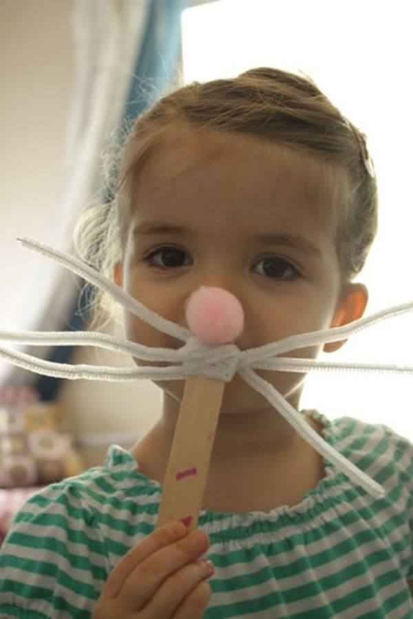 Fun Easter Moustache Spring Recycled Crafts for Kids