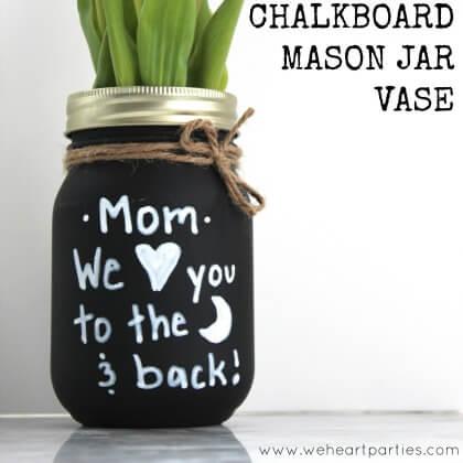 Chalkboard Mason Jar Vases Gift idea