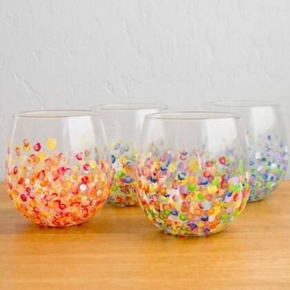 DIY Colorful Hand-Dotted Tumbler