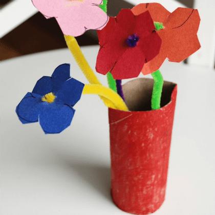 Pipe Cleaner Flowers Vases Gift Ideas