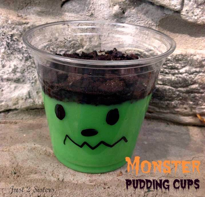 Monster Pudding Cups: