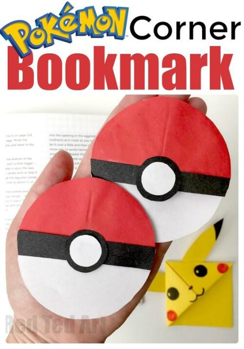 DIY Pokeball Bookmark Corner