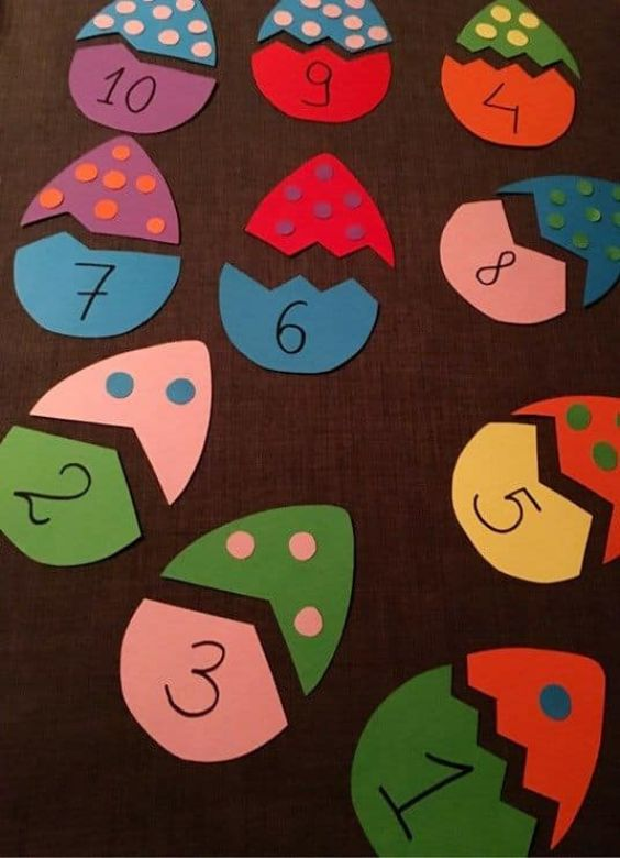 Educational Craft Activities for Kids EASTER COUNTING