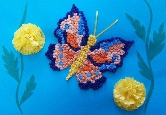 Crumpled Paper Crafts for Kids Fly With The Wind