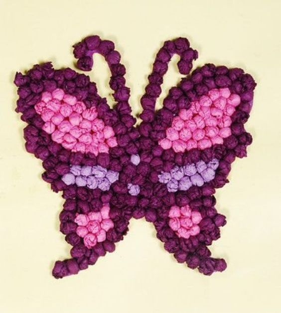 Crumpled Paper Crafts for Kids The Butterfly Effect
