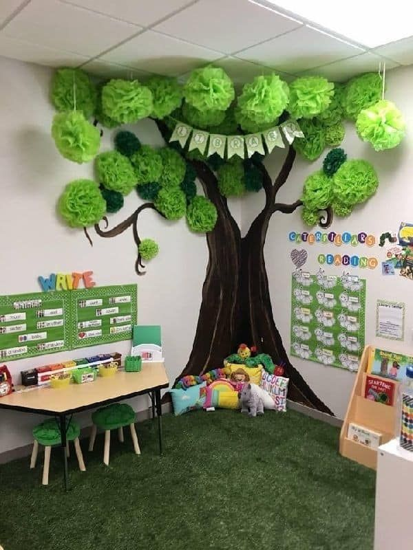DIY Reading Corner Ideas for Kids In The Midst of Lush Greens