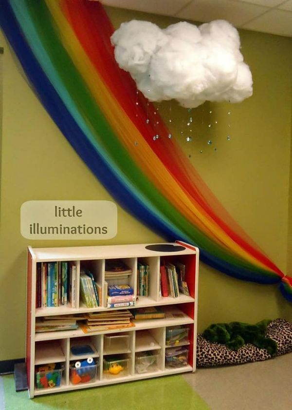 DIY Reading Corner Ideas for Kids Rainbows And Fluffy Clouds
