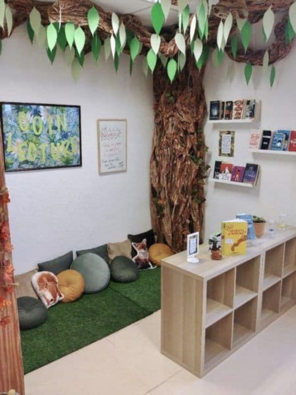DIY Reading Corner Ideas for Kids Under The Shade Of A Forest