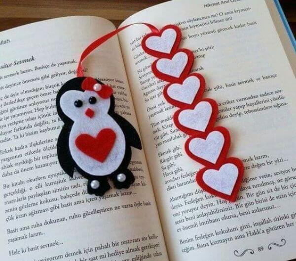 BOOKMARKS THAT EMRACES A NEW BEGINNING PENGUIN AND THE HEARTS