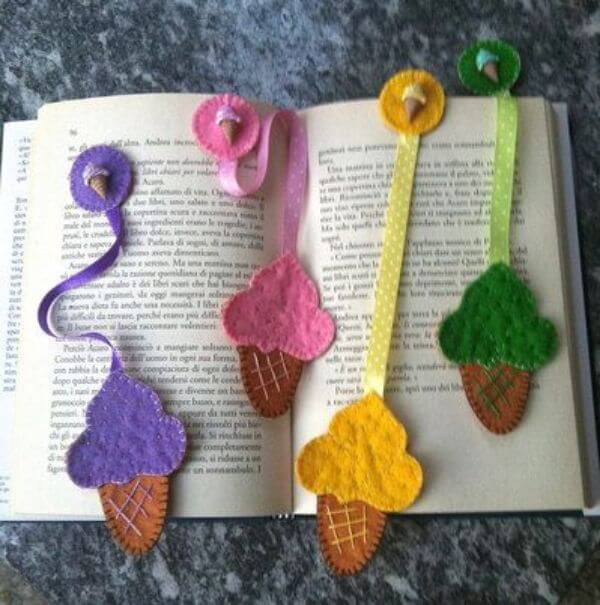 BOOKMARKS THAT EMRACES A NEW BEGINNING WHO LOVES ICECREAMS