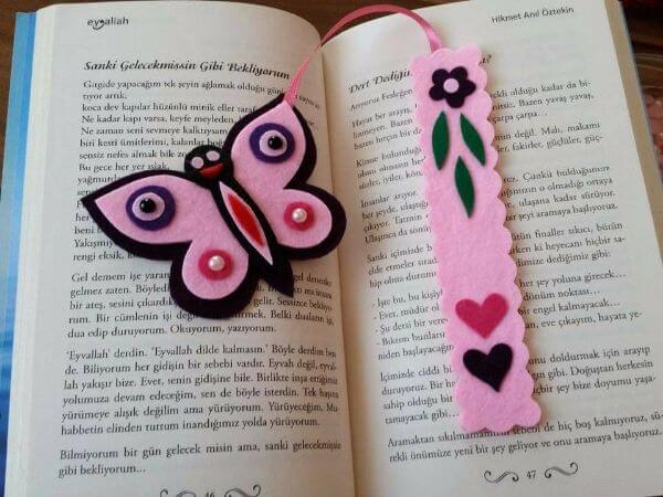 BOOKMARKS THAT EMRACES A NEW BEGINNING ROSY BUTTERFLY