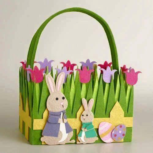 DIY Felt Fabric Multipurpose Craft Easter Felt Basket