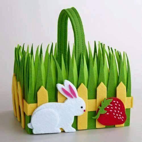 DIY Felt Fabric Multipurpose Craft DIY Flower Basket