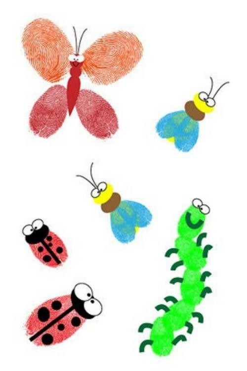 Easy Fingerprint Insect Art
