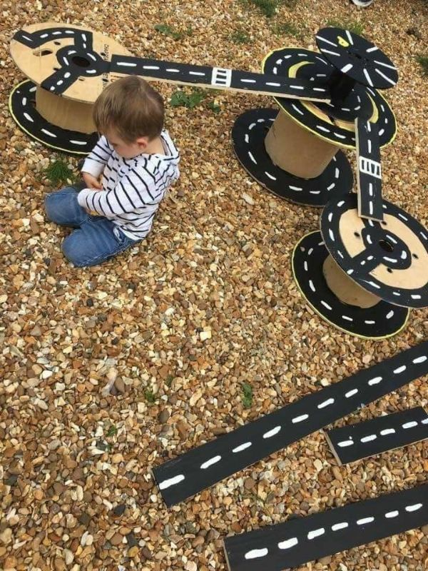DIY Games & Activities for Kids-Homemade Games For Kids Cardboard roadways