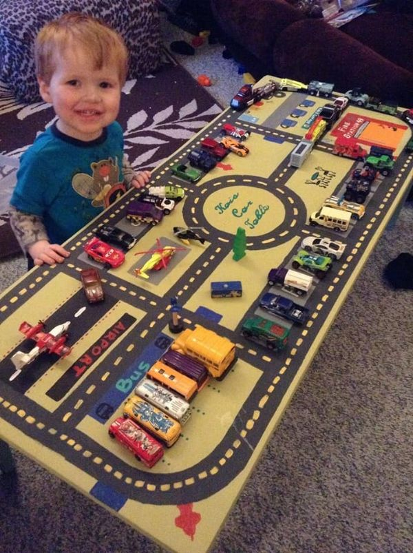 DIY Games & Activities for Kids-Homemade Games For Kids Car Table