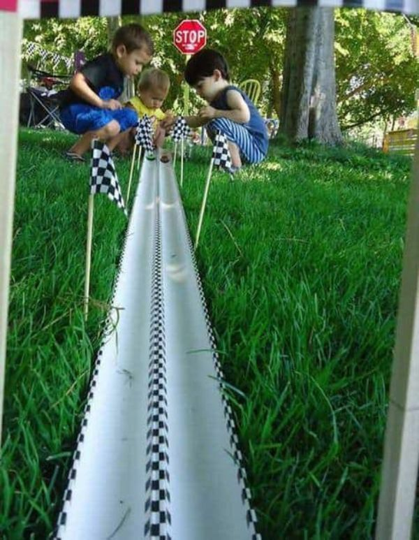 DIY Games & Activities for Kids-Homemade Games For Kids Toy car race track