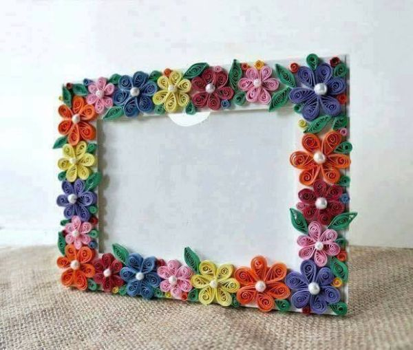 DIY Photo Frame Craft Ideas for Kids Flowery Flash