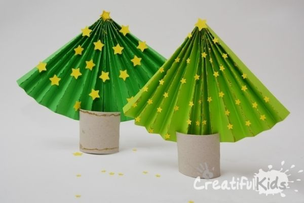 DIY Christmas Crafts for Kids Star studded Christmas trees