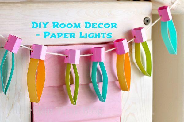 DIY paper lights for decorating rooms