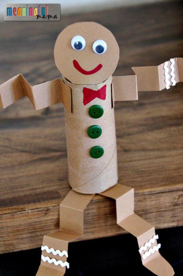 Making use of cardboard rolls