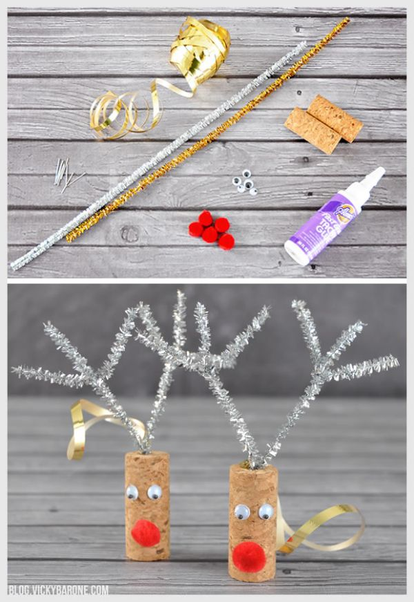Ah yes, reindeers at it again - Christmas ornament crafts