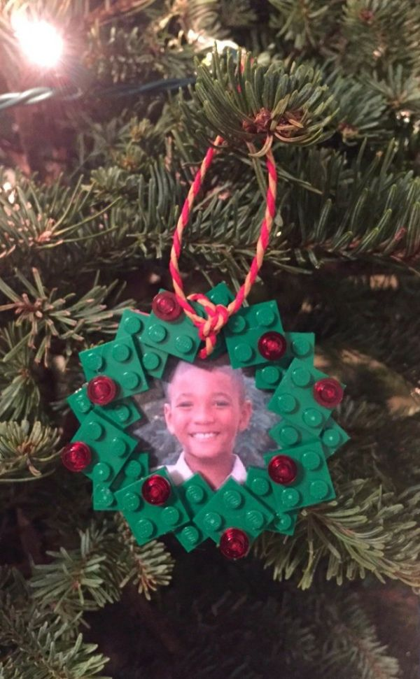 Wreath ornament with portrait - Christmas ornament crafts