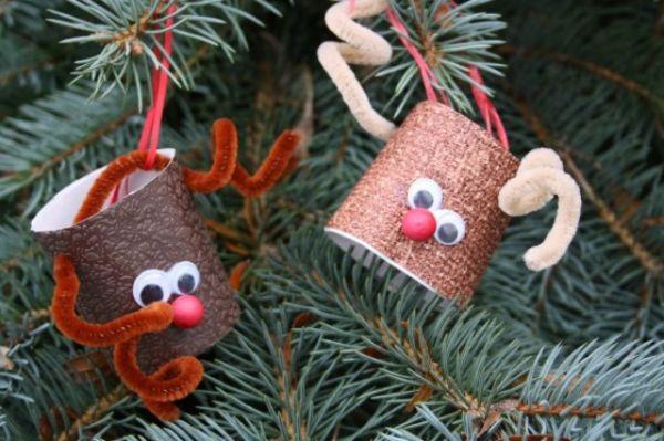 DIY Christmas Crafts for Kids Reindeer cups