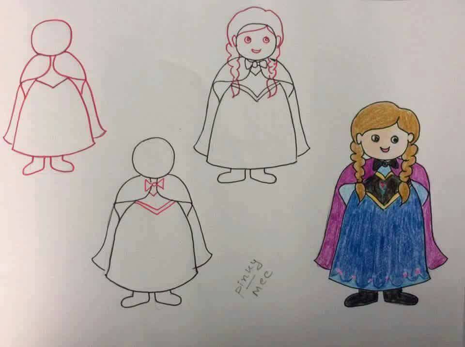 Enhance Drawing Skills of Your Kids Pleasing School Girl
