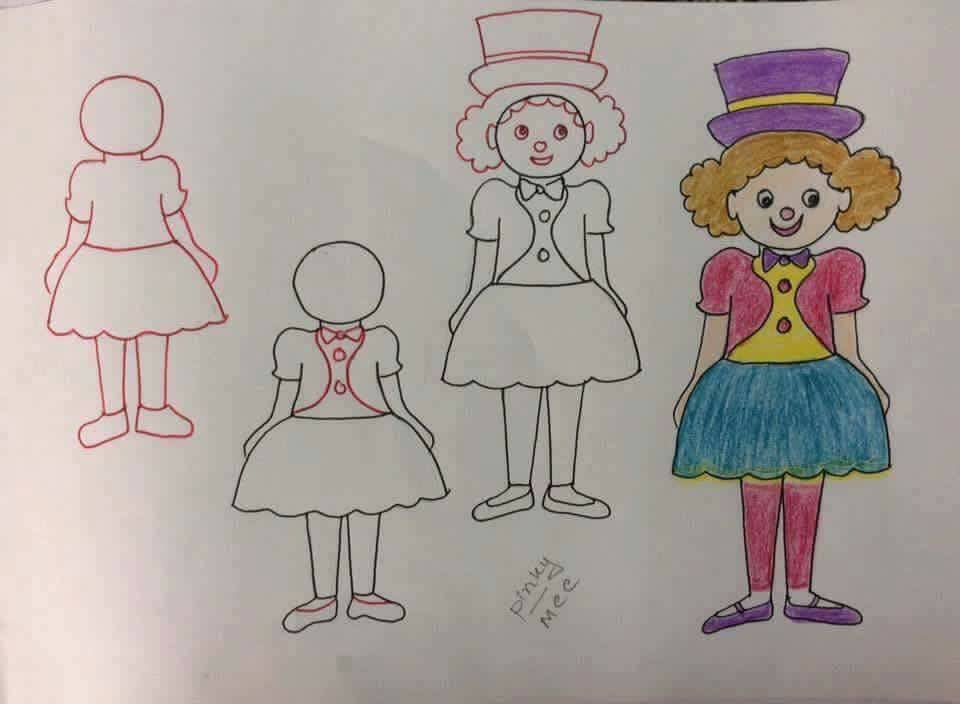 Enhance Drawing Skills of Your Kids Cheerful Joker