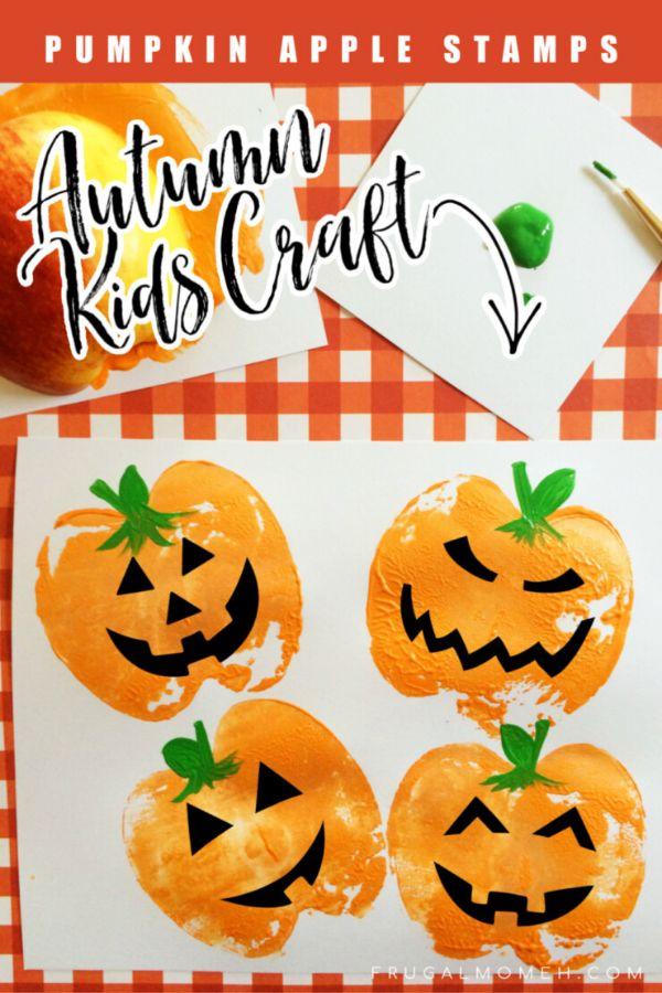 Fall Craft Ideas for Kids Pumpkin Stamps