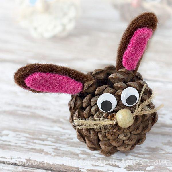 Fall Craft Ideas for Kids Pine Rabbit
