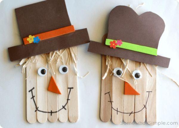 Ice-cream Stick Scarecrow