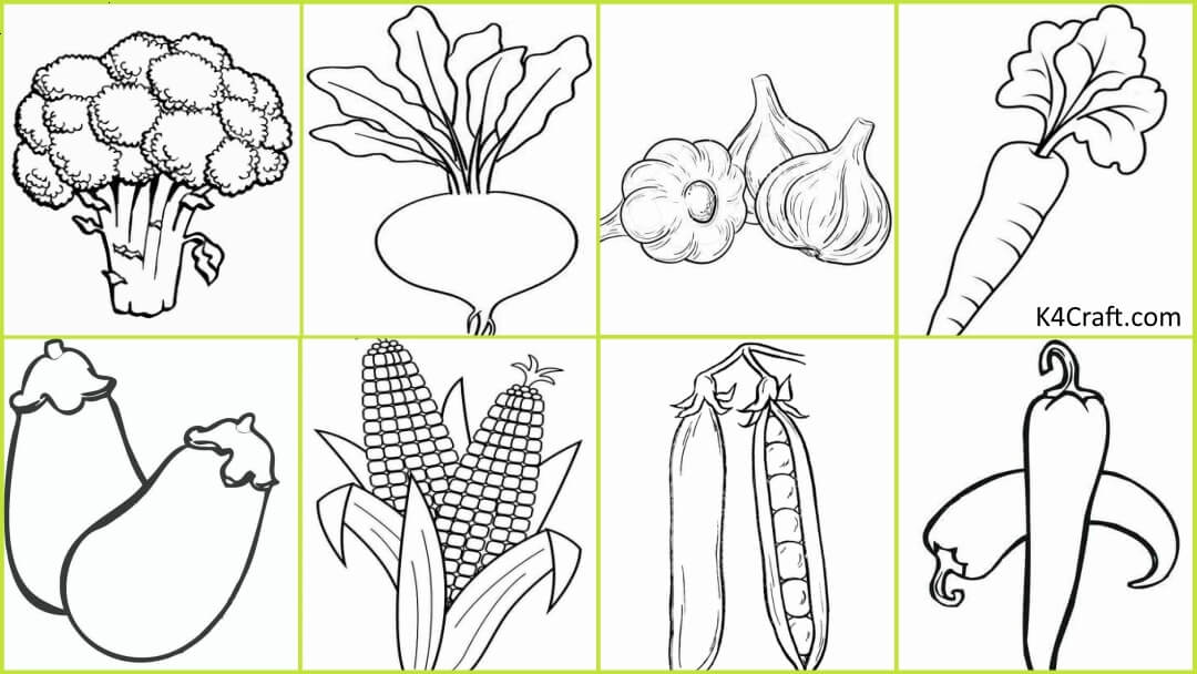 Free Printable Vegetable Coloring Pages For Kids Kids Art Craft