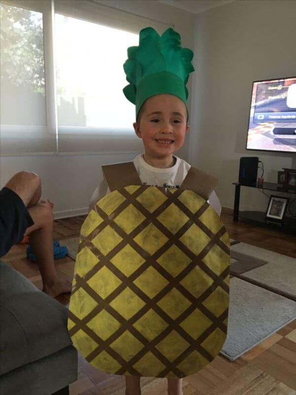 How fancy Dress can work as a lesson Stand tall, wear a crown and be a Pineapple